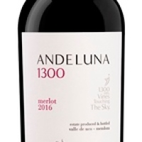 Andeluna presenta la cosecha 2016 de su Andeluna 1300 Merlot