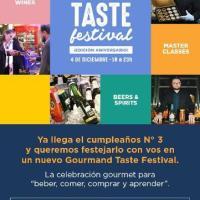 Ya llega la edición Aniversario del Gourmand Taste Festival, para no perderse!!!